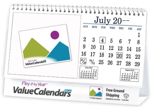 Custom 6-Sheet Desk Tent Spiral Calendar