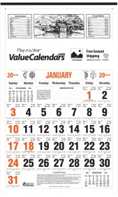 Custom Imprinted Large Almanac Calendar